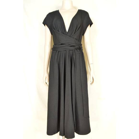 eshakti Dresses & Skirts - eShakti Custom dress SZ XL black heavy knit low cu